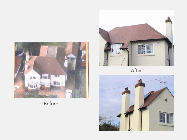 Les Allen Roofing Services before and after photos